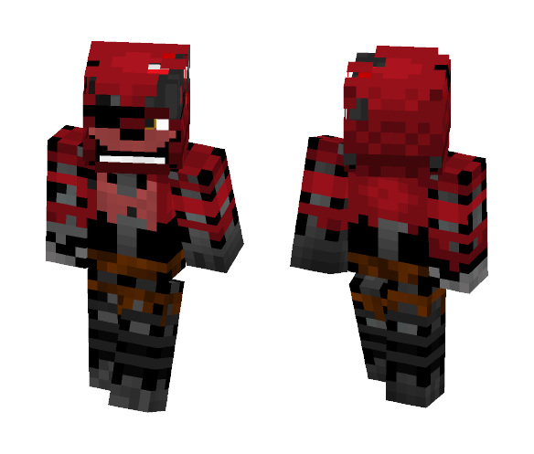Download FNAF 2 - Withered Foxy Minecraft Skin for Free