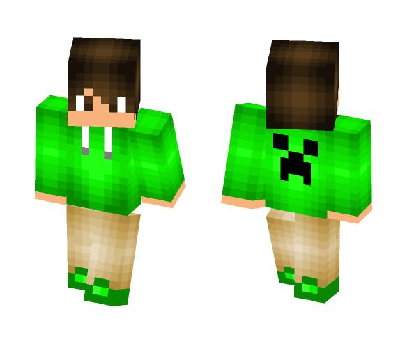 Download Creeper Hoodie Boy Minecraft Skin For Free Superminecraftskins