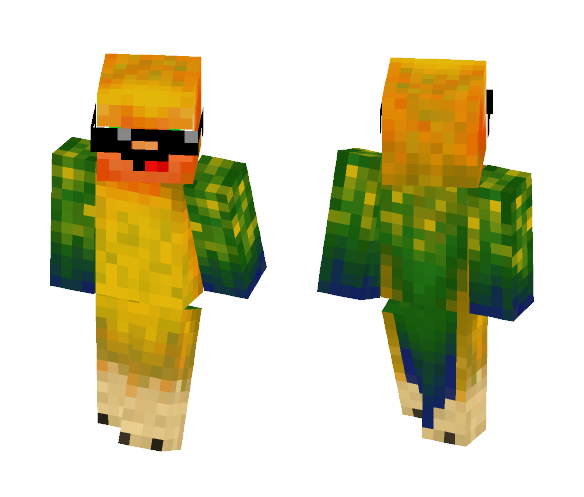 Download COOL DERP PARROT Minecraft Skin for Free