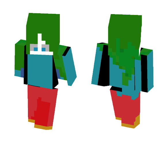 Download A Girl With Green Hair I Guess Minecraft Skin For Free