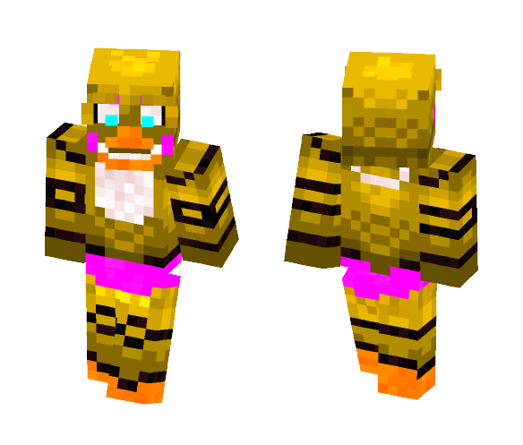 Download FNAF 2 - Toy Chica Minecraft Skin for Free