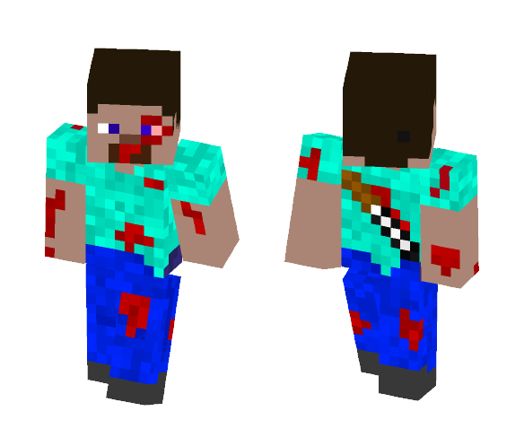 Pvp Steve - Male Minecraft Skins - image 1