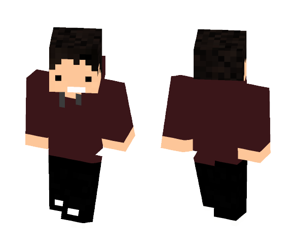 Red Sweater - Male Minecraft Skins - image 1