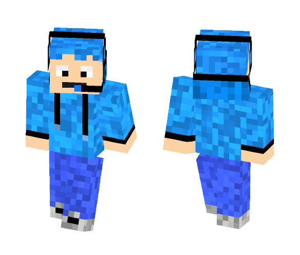 Blue gamer (Read description) - Male Minecraft Skins - image 1