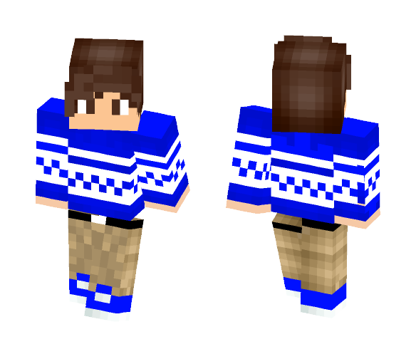 Blue Sweater - Male Minecraft Skins - image 1