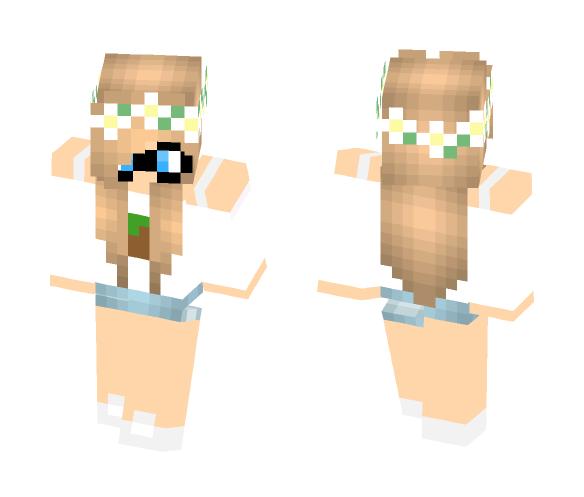 Cute Geek Girl - Cute Girls Minecraft Skins - image 1