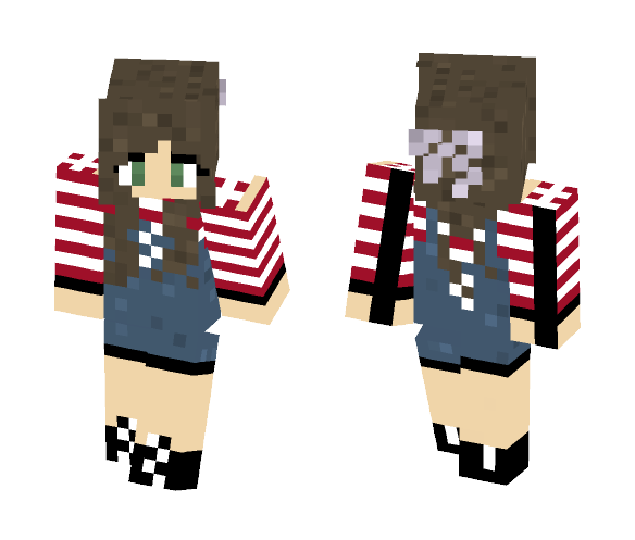 Overall Girl - Female Minecraft Skins - image 1