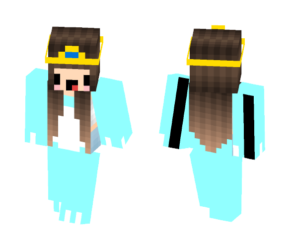 blue pj party - Female Minecraft Skins - image 1