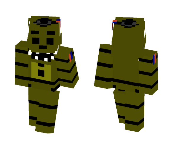 Phantom Golden Freddy FNaF 3 - Male Minecraft Skins - image 1