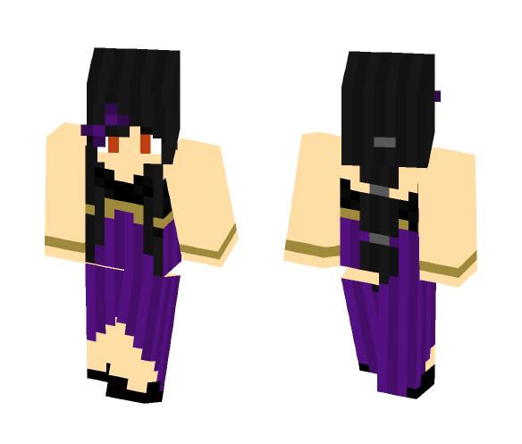 Aphmau fancy purple - Male Minecraft Skins - image 1