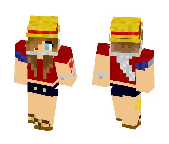 [One Piece] Luffy Genderbend - Female Minecraft Skins - image 1