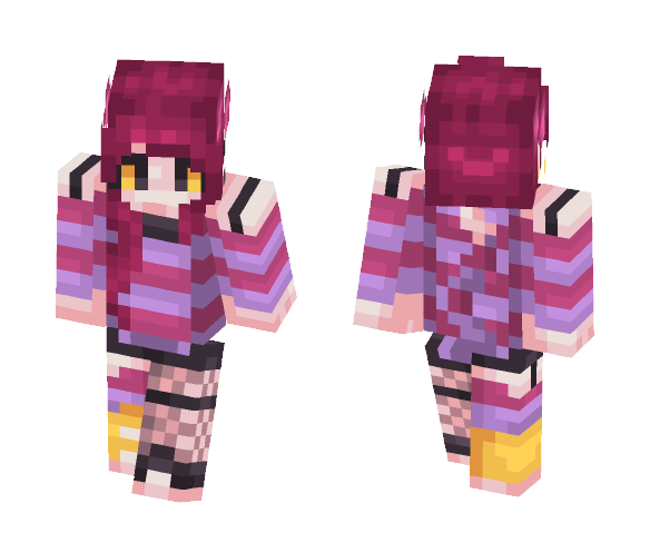 Cheshire Grin - Female Minecraft Skins - image 1
