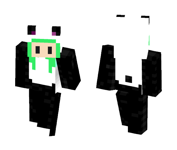 Chib Panda Girl - Female Minecraft Skins - image 1