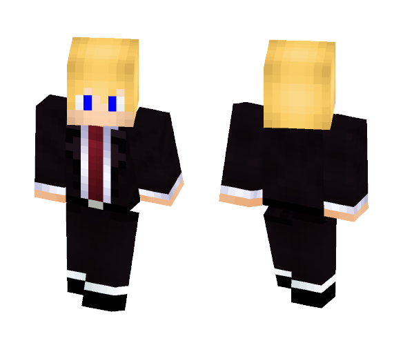 Blonde Boy In Suit - Male Minecraft Skins - image 1
