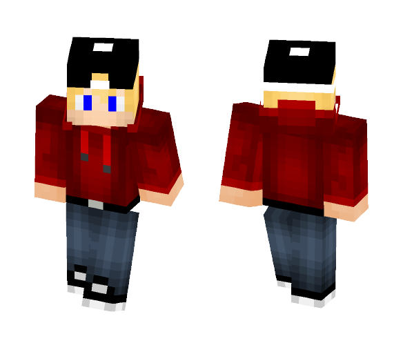 Cute Blonde Boy with Hat - Male Minecraft Skins - image 1