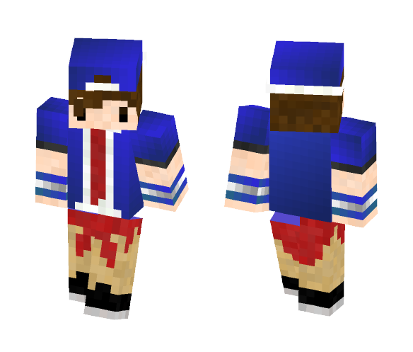 Cool Blue Guy :D - Male Minecraft Skins - image 1