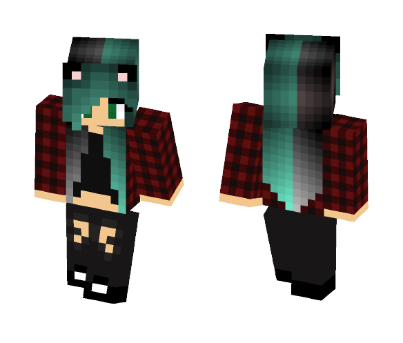 Emo Girl - Female Minecraft Skins - image 1