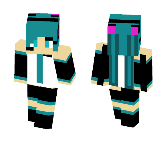 Hatsune Miku - Female Minecraft Skins - image 1