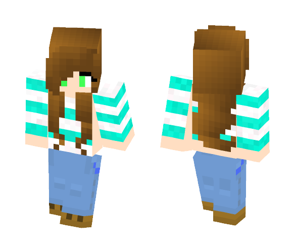 Twin Blue - Female Minecraft Skins - image 1