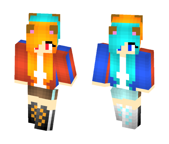 Double skin :3 - Female Minecraft Skins - image 1
