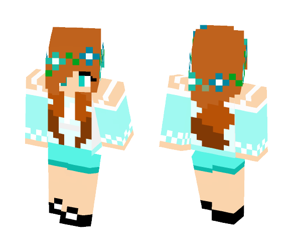Blue sunshine - Female Minecraft Skins - image 1