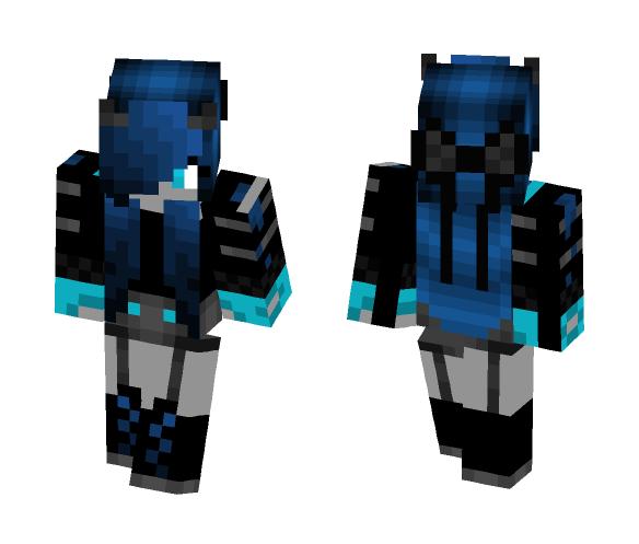 Devil Girl Blue - Girl Minecraft Skins - image 1