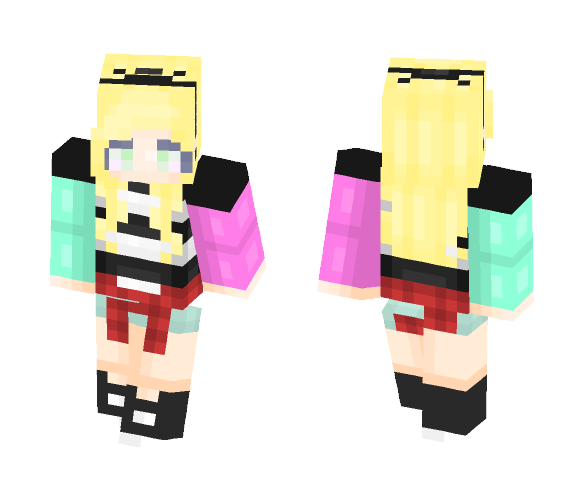 ~Linuxan~ Flannel is the New Black - Female Minecraft Skins - image 1