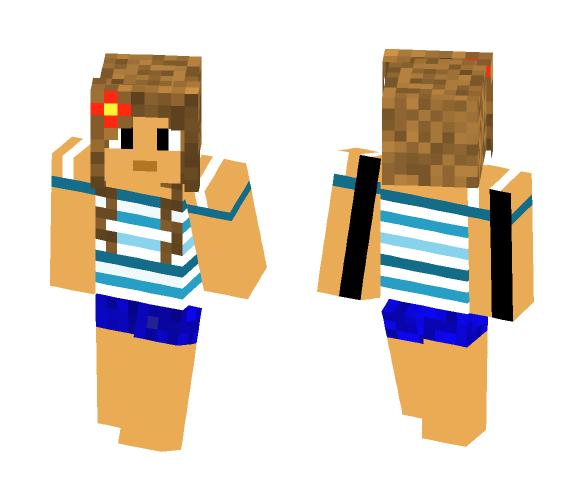 Blue Beach Girl - Girl Minecraft Skins - image 1