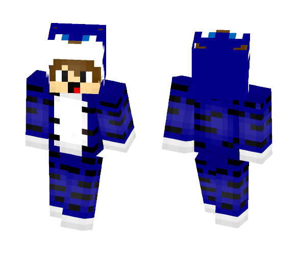 The Blue Tiger Boy - Male Minecraft Skins - image 1