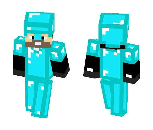 man with dia armor - Male Minecraft Skins - image 1