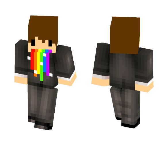 Rainbow lawyer XD - Male Minecraft Skins - image 1