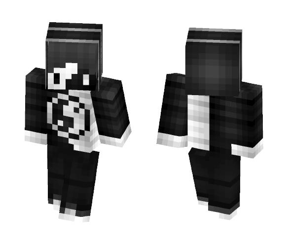 Yin and Yang Boy (Hand-Shaded) - Boy Minecraft Skins - image 1