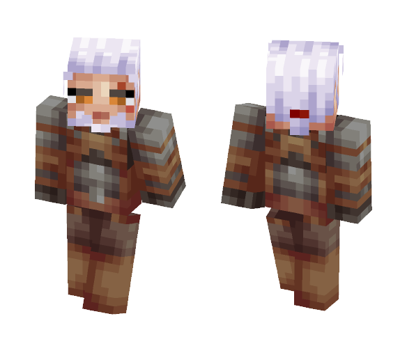 Geralt of Rivia - Male Minecraft Skins - image 1
