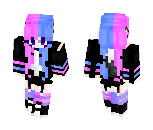 gothic candy cat ;; - Female Minecraft Skins - image 1