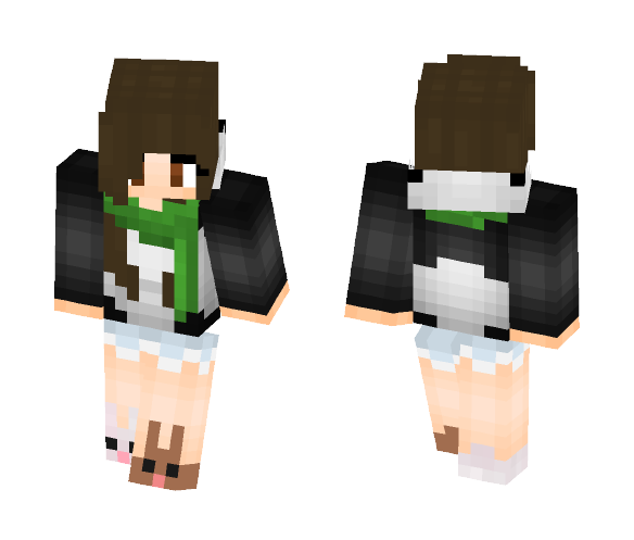 Cute Girl with bunny shoes - Cute Girls Minecraft Skins - image 1