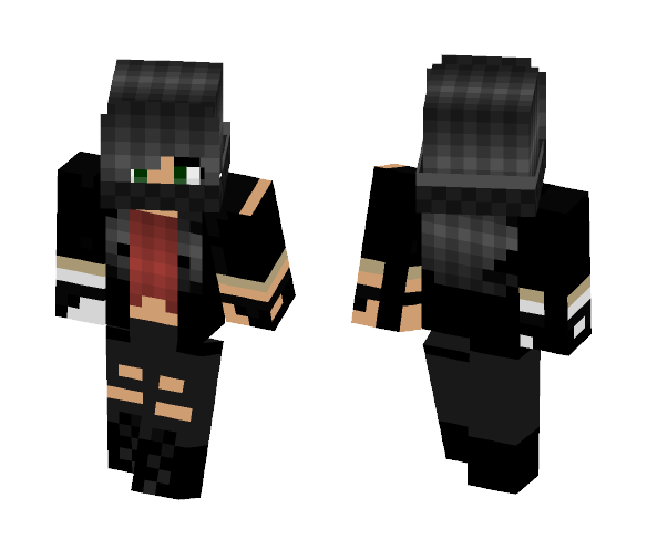 Badass chick w/silver arm thing - Female Minecraft Skins - image 1
