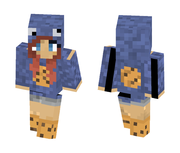 ~Cookie Monster Girl~ - Female Minecraft Skins - image 1