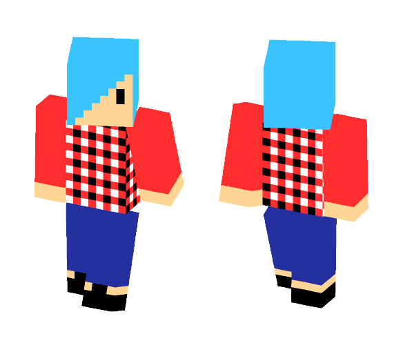 Chib Blue Haired Guy - Male Minecraft Skins - image 1