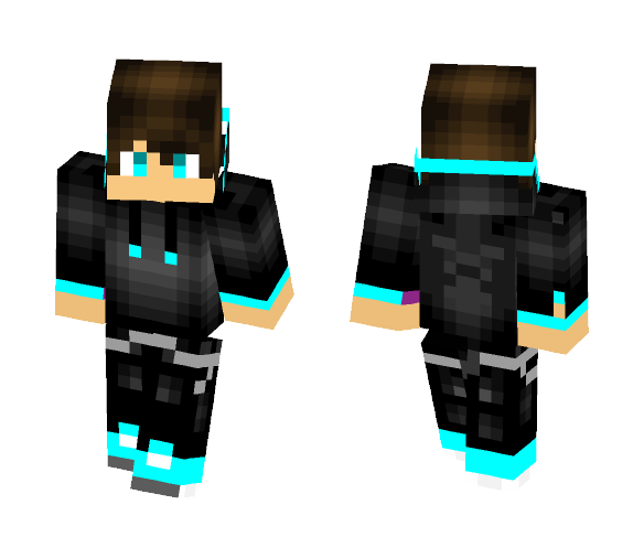 Blue Hoodie Guy - Male Minecraft Skins - image 1