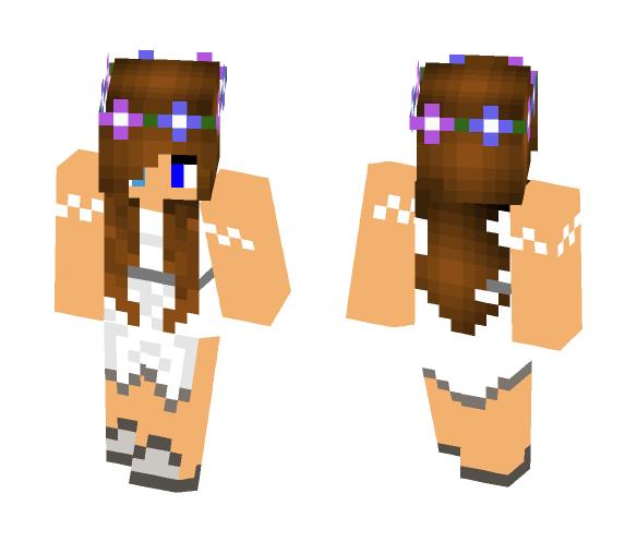 pretty girl in dress - Male Minecraft Skins - image 1
