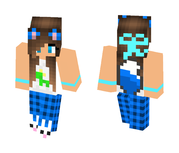 Wolf girl in P.J.s - Girl Minecraft Skins - image 1