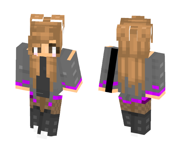 ???? Morado ???? - Female Minecraft Skins - image 1