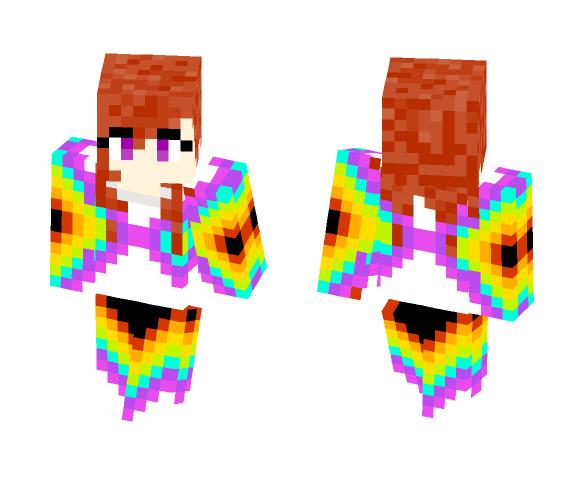 Rainbow Goddess - Female Minecraft Skins - image 1