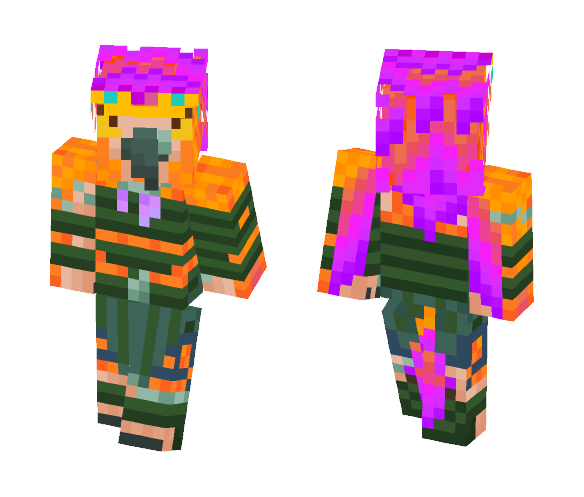 Uncursed Arakkoa Orange/Green - Male Minecraft Skins - image 1