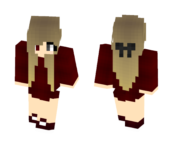 Girl with oversized hoodie - Female Minecraft Skins - image 1