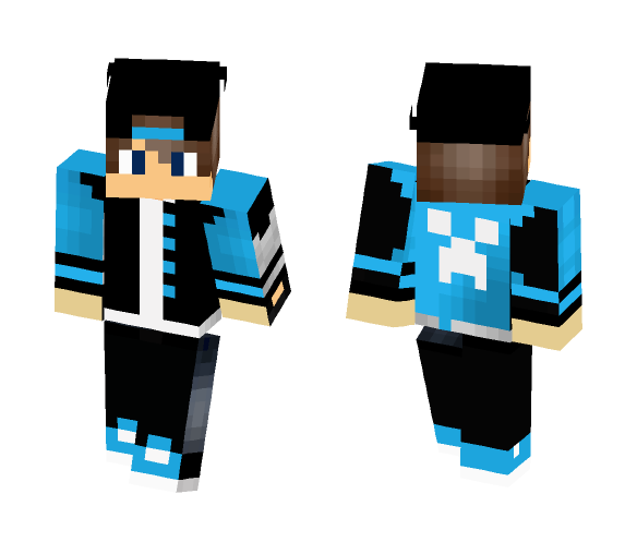 Cool Boy Skin With Cap - Male Minecraft Skins - image 1